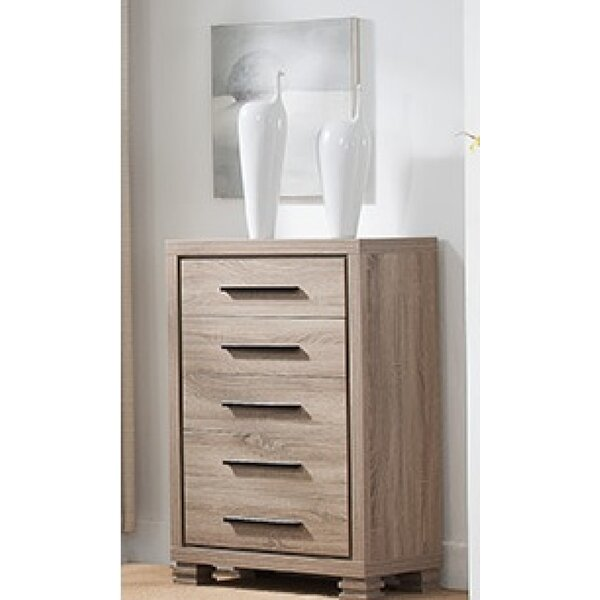 Aaryahi 5 Drawer Chest by Foundry Select