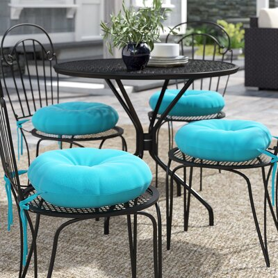 Sarver Indoor/Outdoor Seat Cushion Andover Mills Fabric: Teal