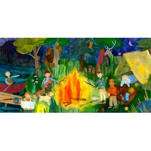 Campfire Kids Canvas Art by Oopsy Daisy