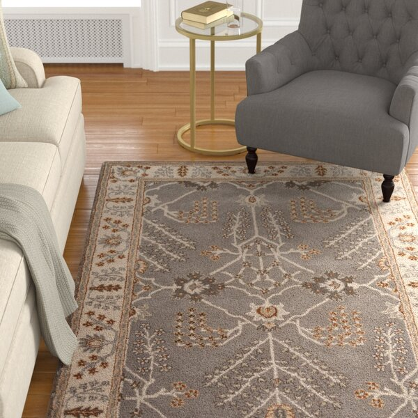 Trinningham Hand-Tufted Gray/Ivory Area Rug by Charlton Home