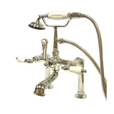 Hot Springs Deck Mount Clawfoot Tub Faucet with Handshower by Elements of Design