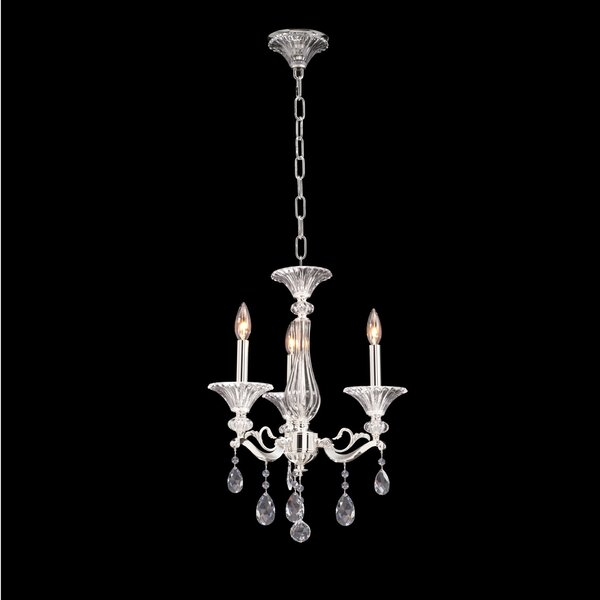 Vasari 3-Light Candle Style Chandelier by Allegri by Kalco Lighting