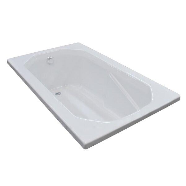 Montserrat 59.75 x 35.5 Rectangular Soaking Bathtub with Reversible Drain by Spa Escapes
