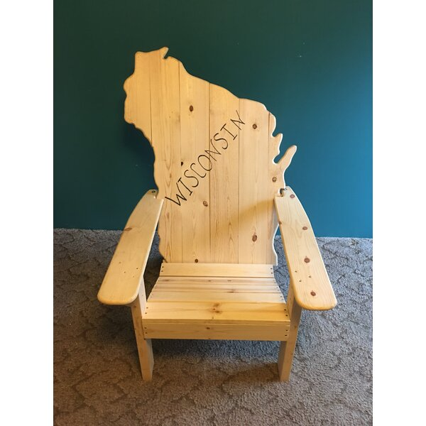 GasSett Wisconsin Wood Adirondack Chair by Millwood Pines Millwood Pines