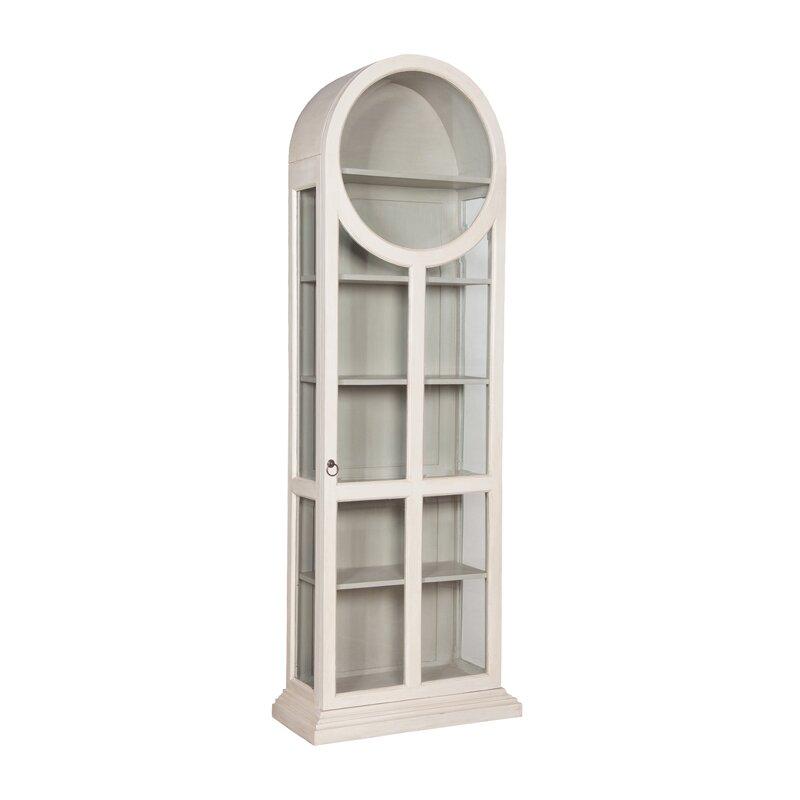 One Allium Way Ilka Round Top Standard Curio Cabinet & Reviews ...