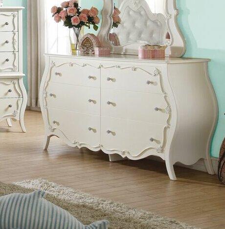 Eddins 6 Drawer Double Dresser by Harriet Bee