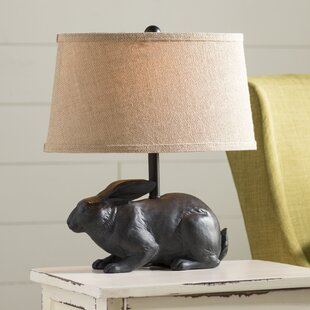 Bunny rabbit table lamps wayfair garth rabbit 17 table lamp aloadofball Image collections