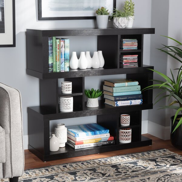 Minto Wood Geometric Bookcase By Ebern Designs