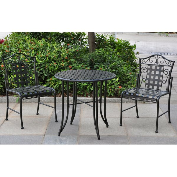 Abbottsmoor Iron Patio 3 Piece Bistro Set by Darby Home Co