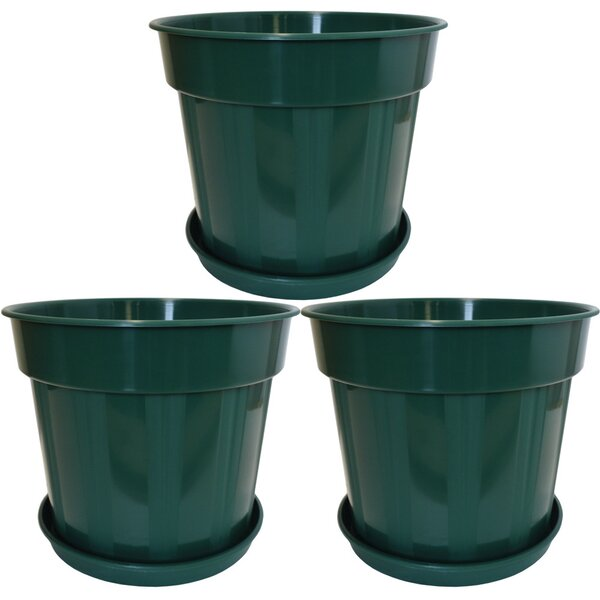 Magers Round Accent Plastic Pot Planter (Set of 3) by Winston Porter