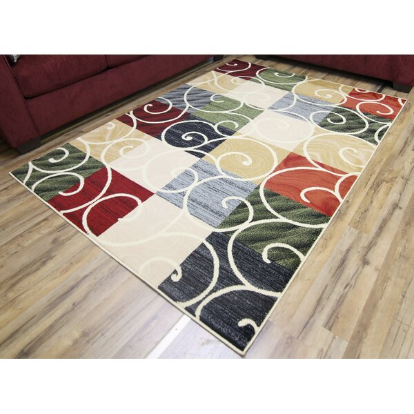 Passion Cream/Green Area Rug by Beyan Signature