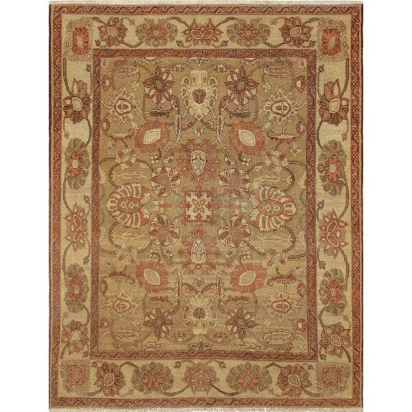 One-of-a-Kind Romona Hand Knotted Wool Brown Area Rug by Isabelline