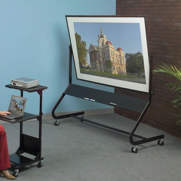 Euro Porcelain/Cork Reversible Mobile Interactive Whiteboard by Best-Rite®