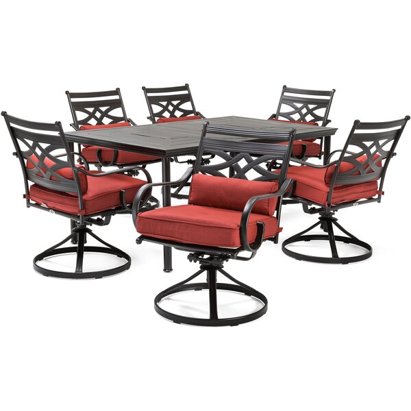 Keeble 7 Piece Dining Set with Cushions by Alcott Hill