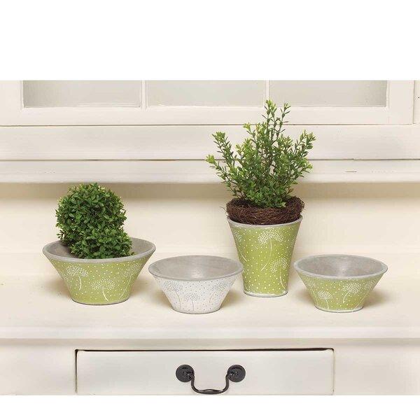 Omane-Brimpong Dandelion Bowl 4-Piece Pot Planter Set by August Grove