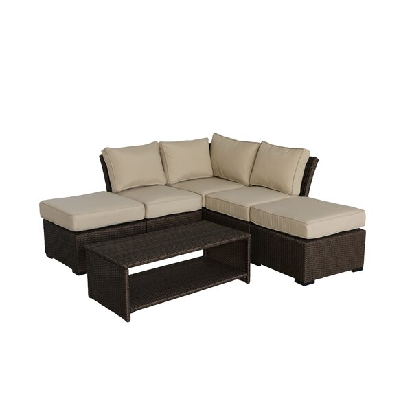 Jaidon 6 Piece Sectional Seating Group with Cushions by Red Barrel Studio Red Barrel Studio