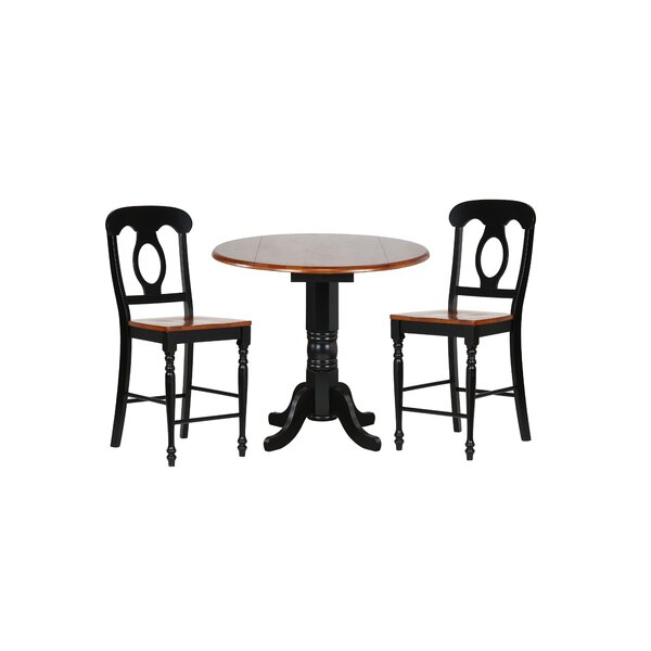Lockwood 3 Piece Adjustable Pub Table Set by Loon Peak