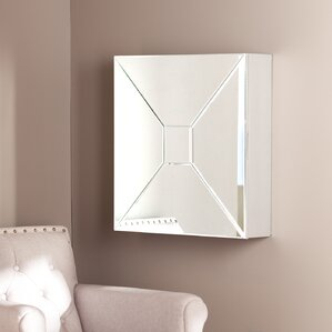 Jaina Mirrored Wall Mounted Jewelry Ar..