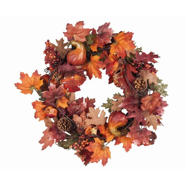 Fall 24 Berries and Pine Cones Wreath by August Grove