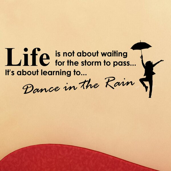Life is Not About Waiting for the Storm to Pass Wall Decal by Decal the Walls