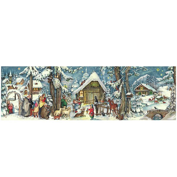 Sellmer Village/Forest Panorama Scene Advent Calendar by The Holiday Aisle