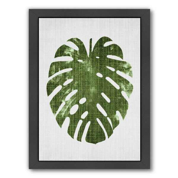 Tropical Leaf 1 Framed Graphic Art by Bay Isle Home