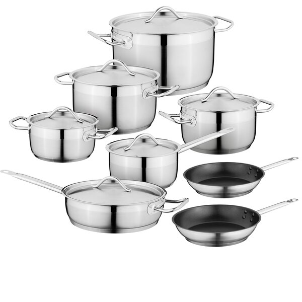 Hotel Essential 14-Piece Stainless Steel Cookware Set by BergHOFF International