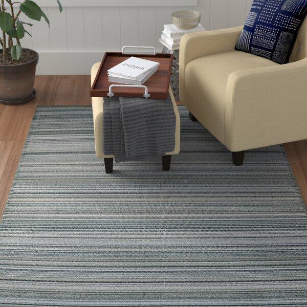 Frandsen Stripes Reversible Gray Indoor/Outdoor Area Rug by Winston Porter