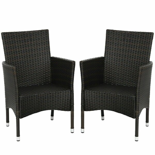 Vivelle Patio Chair with Cushions (Set of 2) by Latitude Run