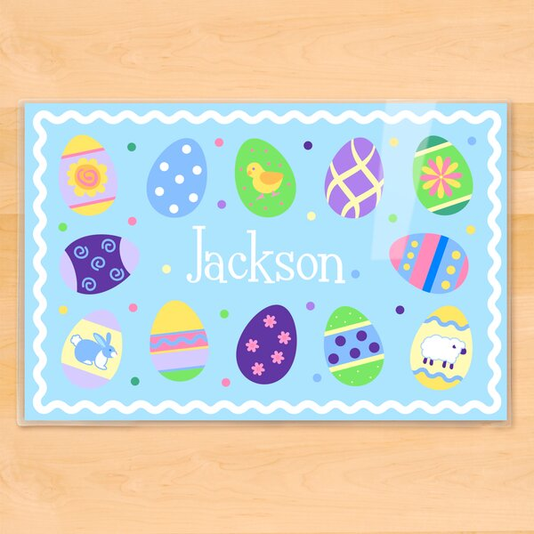 Easter Eggs Boys Personalized Placemat by Olive Kids