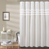 Marzano Linen Single Shower Curtain by Charlton Home