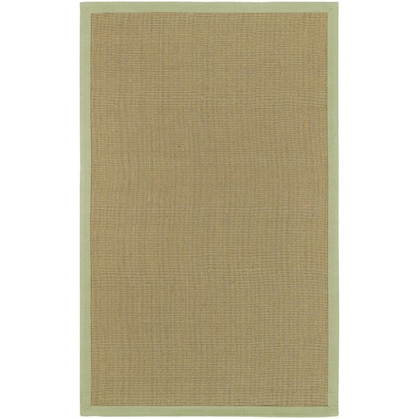 Burg Beige/Green Rug by Highland Dunes