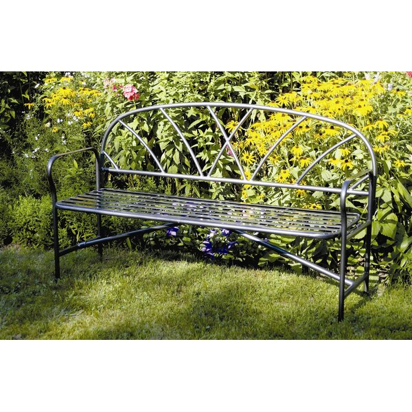Mountville Wrought Iron Garden Bench by Charlton Home Charlton Home