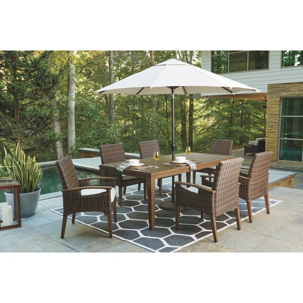 Estill 3-Piece Bar Height Dining Set with Cushions by Highland Dunes