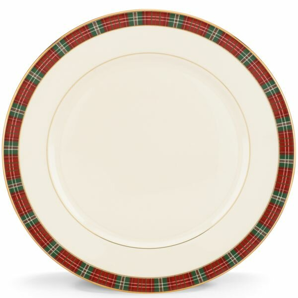 Winter Greetings Plaid Dinner Plate by Lenox