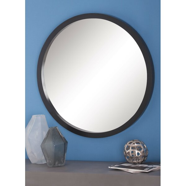 Samson Wood Round Wall Mirror by Langley Street