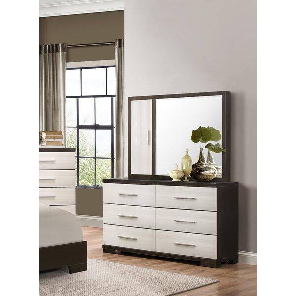 Hastings 6 Drawer Double Dresser with Mirror by Brayden Studio