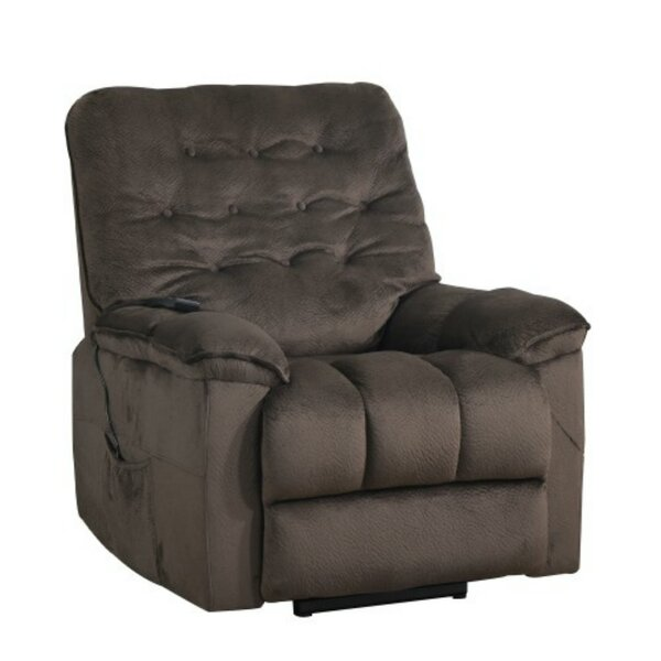 Power Lift Chair Soft Fabric Upholstery Recliner Living Room Sofa Chair With Remote Red Barrel Studio W001642826