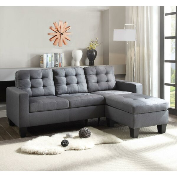 Padillo Refined Sectional with Ottoman by Winston Porter