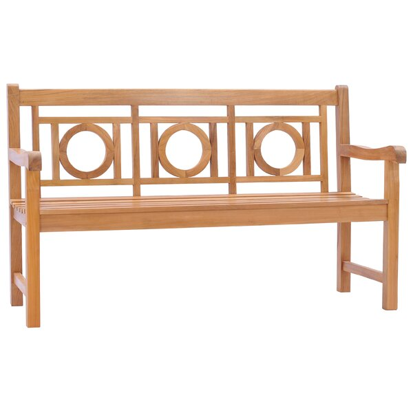 Balfour Double-O Teak Garden Bench by Foundry Select