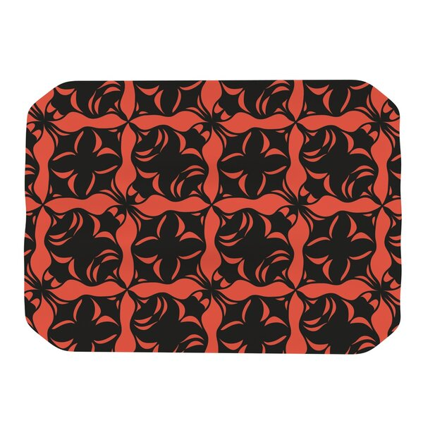 Oval Orange Love Placemat by KESS InHouse