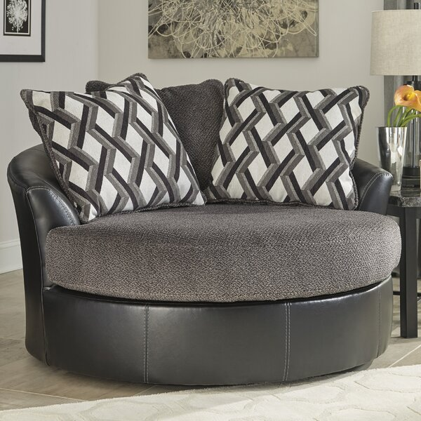 Thaler Swivel Barrel Chair by Winston Porter