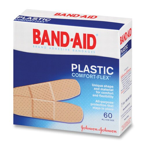 Johnson Band-Aid Plastic Bandages, 60 per Box by J