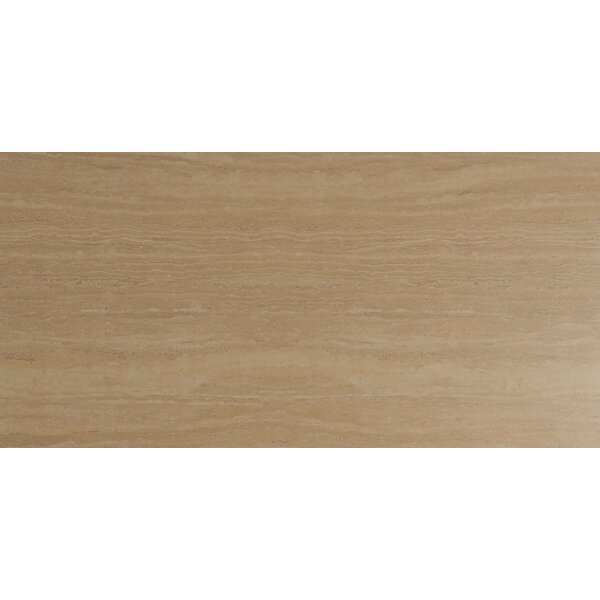 Travertino 12 x 24 Porcelain Wood Look/Field Tile in Beige by MSI