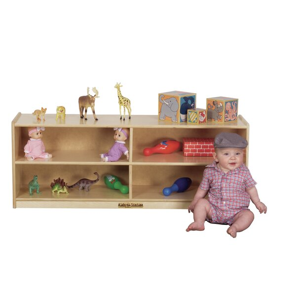 Preschool Toddler 4 Compartment Shelving Unit by K