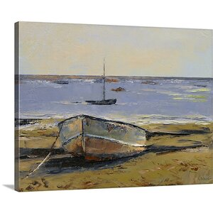 Boats in Provincetown Harbor by Michael Creese Painting Print on Canvas by Canvas On Demand