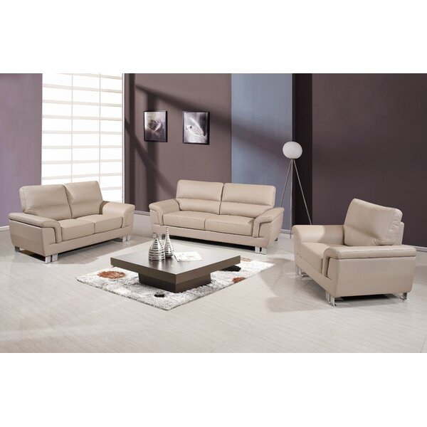 Hawker 3 Piece Living Room Set by Orren Ellis