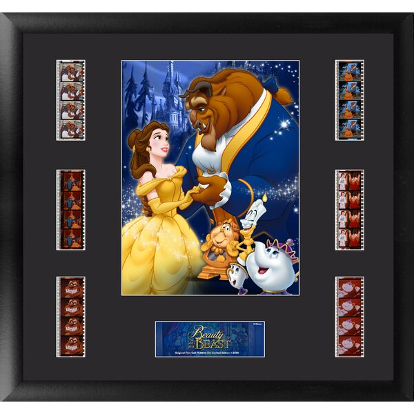 Beauty and the Beast Montage FilmCell Presentation Framed Vintage Advertisement by Trend Setters