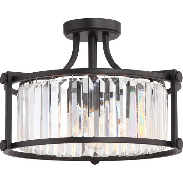 Bunton 3-Light Semi Flush Mount by Mercury Row