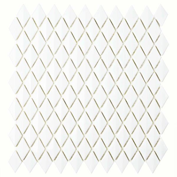 Esamo 11.625 x 12 Glass Mosaic Tile in White by EliteTile